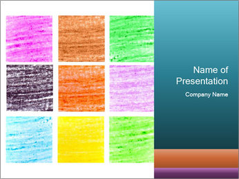 Multicolored squares PowerPoint Template - Slide 1
