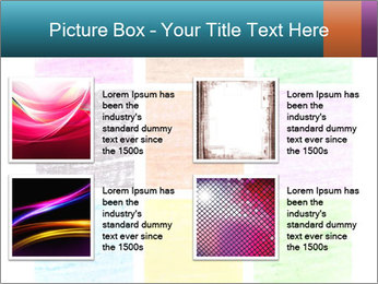 Multicolored squares PowerPoint Template - Slide 14