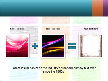 Multicolored squares PowerPoint Template - Slide 22