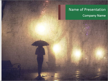 Night alley PowerPoint Templates