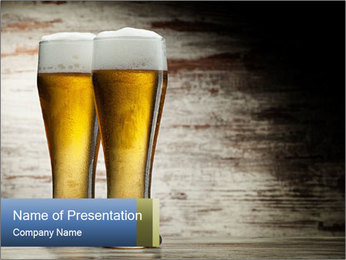 Beer PowerPoint Templates - Slide 1