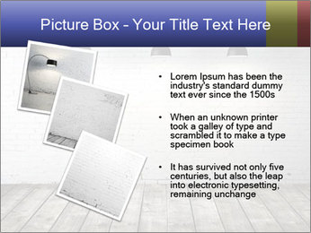 White brick room with ceiling lamp PowerPoint Templates - Slide 17