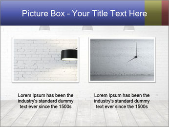 White brick room with ceiling lamp PowerPoint Templates - Slide 18