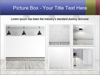 White brick room with ceiling lamp PowerPoint Templates - Slide 19