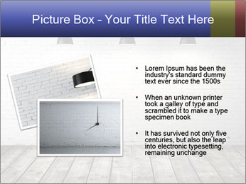 White brick room with ceiling lamp PowerPoint Templates - Slide 20