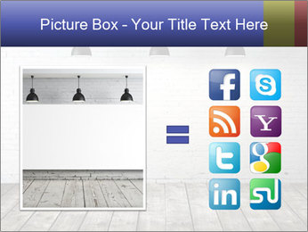 White brick room with ceiling lamp PowerPoint Templates - Slide 21