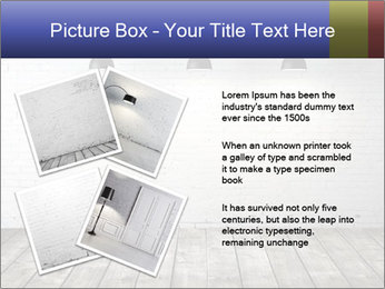 White brick room with ceiling lamp PowerPoint Templates - Slide 23