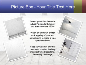 White brick room with ceiling lamp PowerPoint Templates - Slide 24