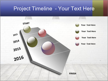 White brick room with ceiling lamp PowerPoint Templates - Slide 26