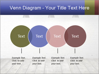 White brick room with ceiling lamp PowerPoint Templates - Slide 32