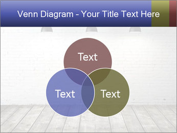 White brick room with ceiling lamp PowerPoint Templates - Slide 33