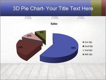 White brick room with ceiling lamp PowerPoint Templates - Slide 35