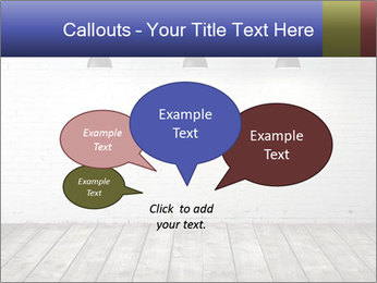 White brick room with ceiling lamp PowerPoint Templates - Slide 73
