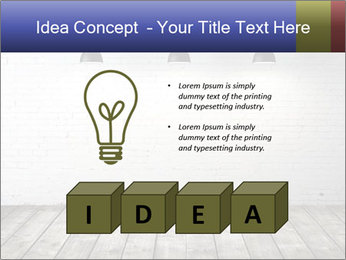 White brick room with ceiling lamp PowerPoint Templates - Slide 80
