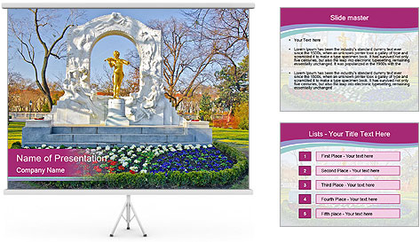 Beautiful statue PowerPoint Template