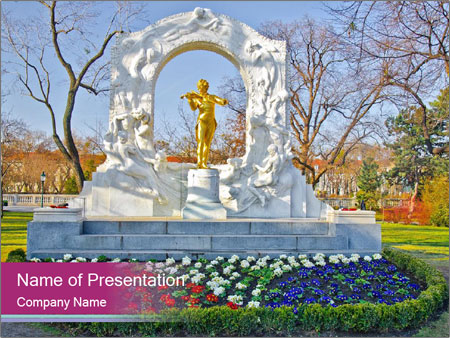 Beautiful statue PowerPoint Templates