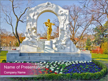 Beautiful statue PowerPoint Templates - Slide 1