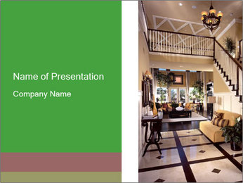 Luxury apartments PowerPoint Template - Slide 1