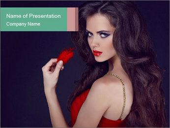 Charming girl PowerPoint Template