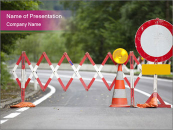 Road signs PowerPoint Template