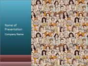 Large crowd of people PowerPoint Templates