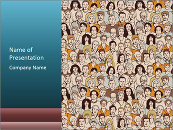 Large crowd of people PowerPoint Template - Slide 1