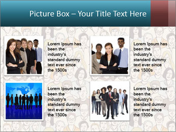 Large crowd of people PowerPoint Template - Slide 14