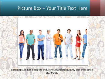 Large crowd of people PowerPoint Templates - Slide 15