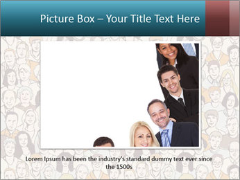 Large crowd of people PowerPoint Templates - Slide 16