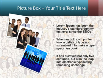 Large crowd of people PowerPoint Template - Slide 17