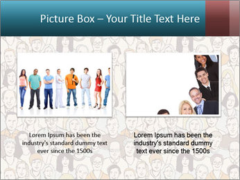 Large crowd of people PowerPoint Templates - Slide 18