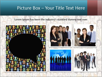 Large crowd of people PowerPoint Template - Slide 19