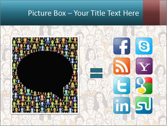 Large crowd of people PowerPoint Template - Slide 21