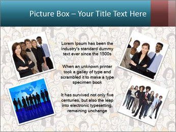 Large crowd of people PowerPoint Template - Slide 24
