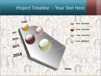 Large crowd of people PowerPoint Template - Slide 26