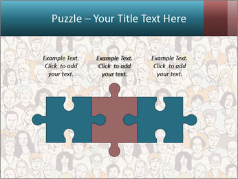Large crowd of people PowerPoint Template - Slide 42