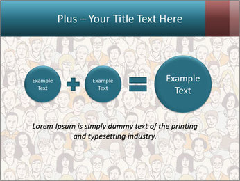 Large crowd of people PowerPoint Templates - Slide 75