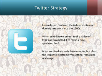 Large crowd of people PowerPoint Templates - Slide 9