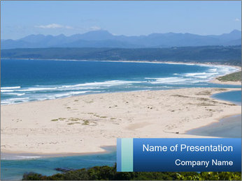 The ocean and beach PowerPoint Template - Slide 1