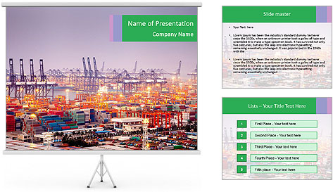 Sea port PowerPoint Template