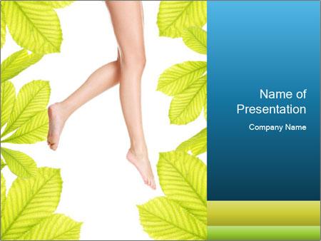 Slender women's legs PowerPoint Template