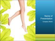 Slender women's legs PowerPoint Templates
