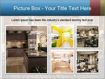 The interior of the dining room PowerPoint Template - Slide 19