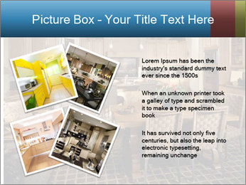 The interior of the dining room PowerPoint Template - Slide 23