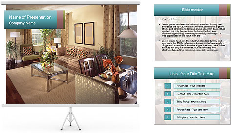 Beautiful interior PowerPoint Template
