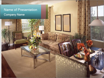 Beautiful interior PowerPoint Template - Slide 1