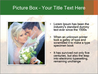 Newlyweds in the field PowerPoint Template - Slide 13