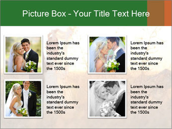 Newlyweds in the field PowerPoint Template - Slide 14