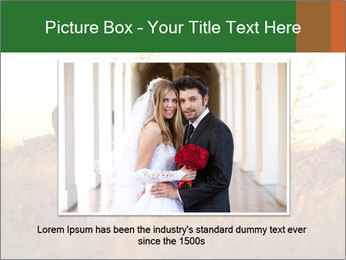 Newlyweds in the field PowerPoint Template - Slide 15