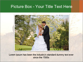 Newlyweds in the field PowerPoint Template - Slide 16